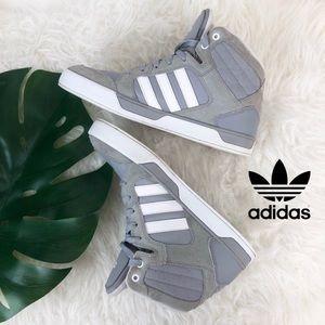 Adidas Neo Ortholite Grey Suede Trim High Tops